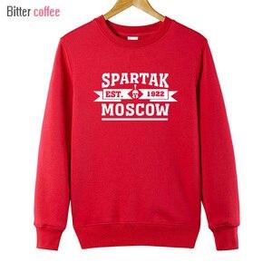 Image 4 - القهوة المر نوي الشتاء عالية الجودة موسكو هوديس الروسية هوديس Camiseta طويلة الأكمام بلوزات حجم كبير