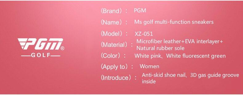 2018 PGM golfe sapatos para as mulheres