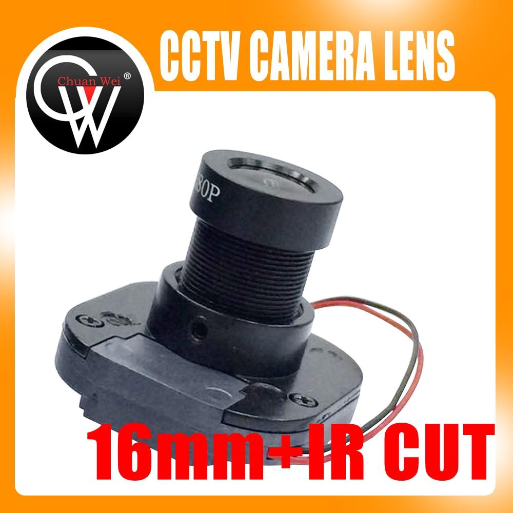 1080P IR 16mm lens + IR CUT Equipment M12 for Full HD CCTV Camera MTV Mount 2pcs lot 1 39mm cctv camera megapixel mtv ir cctv lens f2 25 1 4 m12 mount 650 ir filter