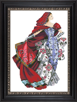 Needlework,DIY Cross Stitch,Sets For Embroidery kits,14CT&16CT&18CT,Red dress woman