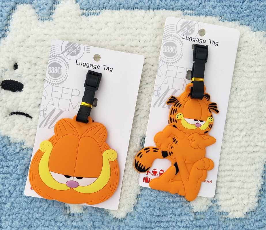 IVYYE Yellow Cat Anime Travel Accessories Luggage Tag Suitcase ID Address Portable Tags Holder Baggage Labels New