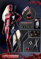 For Collection woman pool 1/6 TE021 Lady Katana lady deadpool Action figure doll Toy full set