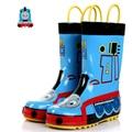 Thomas Y Sus Amigos Niños Botas de Lluvia Para Niños Zapatos De Goma Rainboots Cartoon Kids Portátiles A Prueba de agua Del Motor Del Tanque Niños Botas