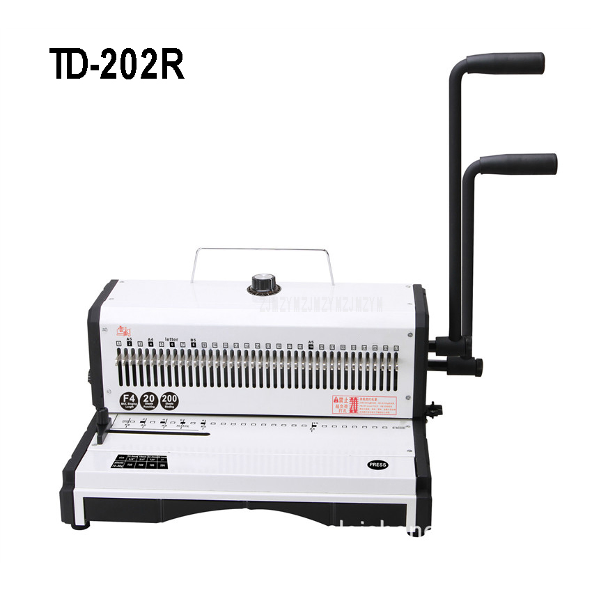 TD 202R Manual Spiral Wire Binding Machine Metal 27 Round