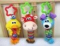 Новый Детские Игрушки Гремят Мой Первый Звон Трио Колокольчик Многофункциональный Плюшевые колокол Игрушка Коляска