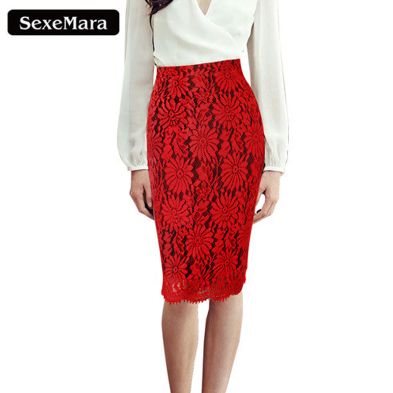 Red Lace Skirt Promotion-Shop for Promotional Red Lace Skirt on ...