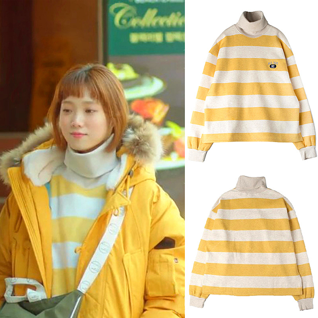 BTS Hoodies Kpop Style Harajuku Striped Turtleneck Moletom Kawaii Sweatshirt koreanLee Sung Kyung the Same BF style Pullover