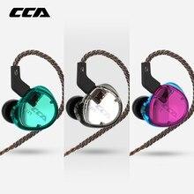 CCA C04 في الأذن الصوت شاشات عزل الضوضاء ايفي الموسيقى الرياضة حديد التسليح سماعة أذن مزدوجة انفصال كابل ل Yinyoo HQ6