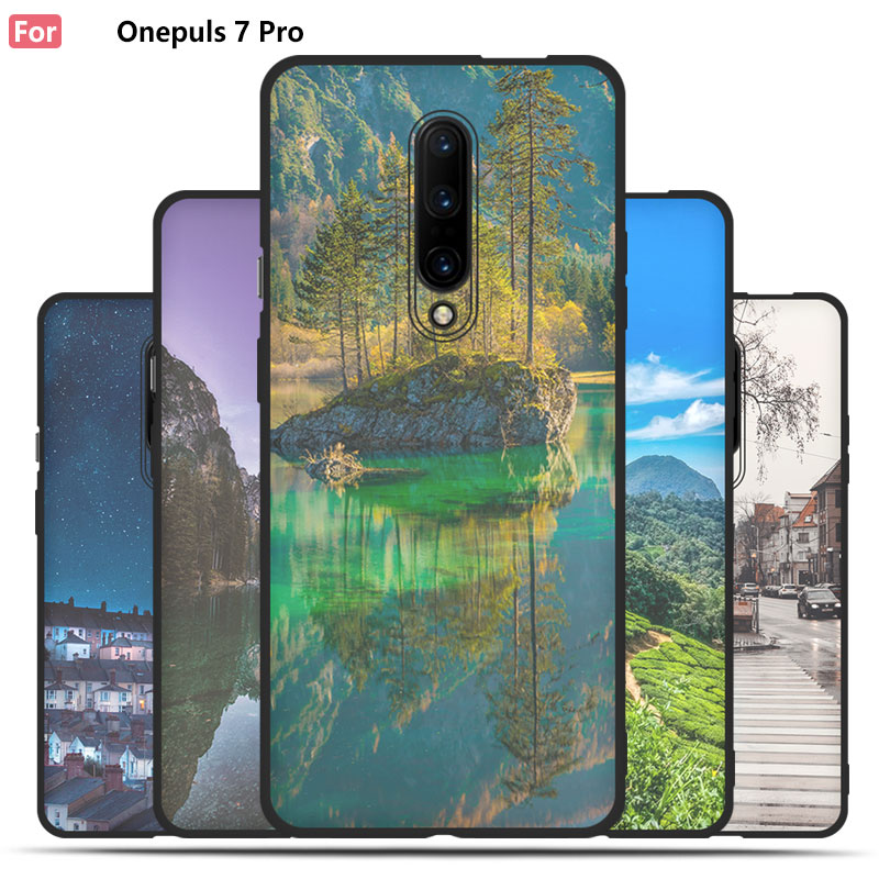 City Night Scene Case For font b OnePlus b font font b 7 b font font