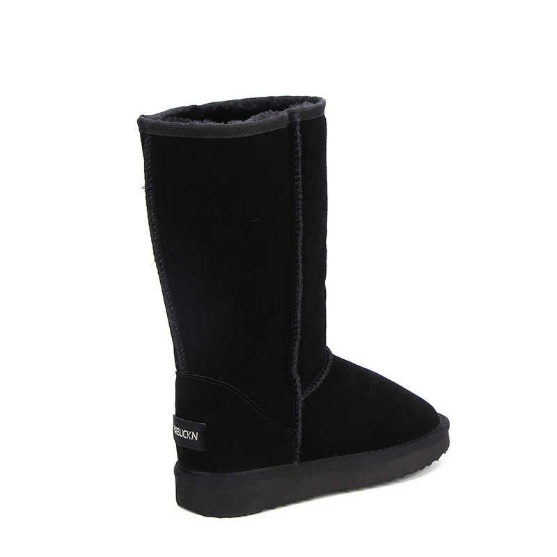 HABUCKN באיכות גבוהה מותג שלג מגפי נשים אופנה עור אמיתי אוסטרליה קלאסי נשים גבוהה אתחול חורף נשים שלג נעליים