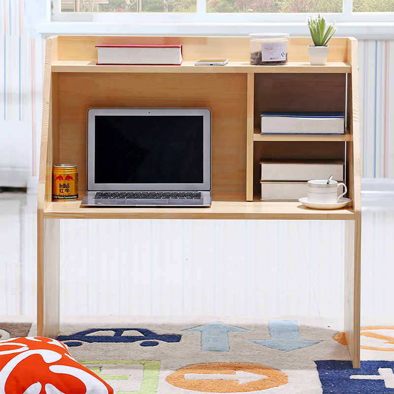 Table Dormitory Artifact Notebook Computer Desk Solid Wood Lazy