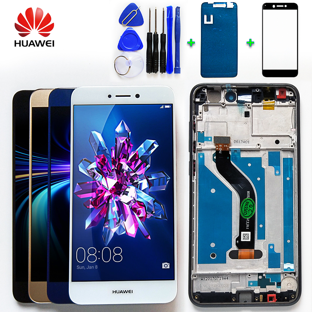 Huawei Touch-Screen-Frame Lcd-Display P8-Lite Digitizer-Sensor-Assembly with Free-Tempered-Glass