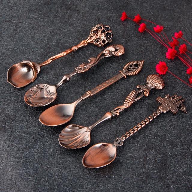 Vintage Retro Tea Spoons Set