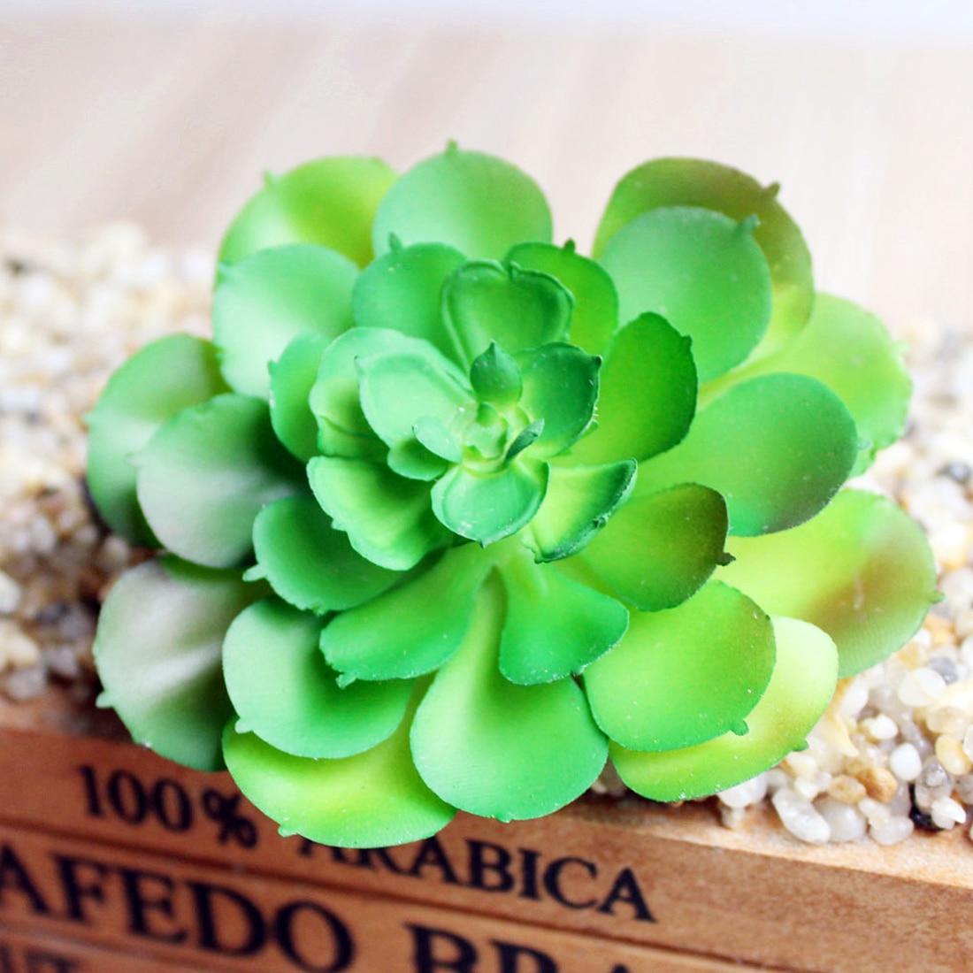 DIY Home Floral Decor Artificial Lifelike Succulents Plants Multi Type PVC Plant Garden Miniature Aloe Cactus
