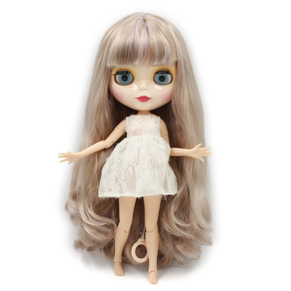 factory blyth doll 280BL3227 1049 Grey mix purple hair with bangs fringes joint body 1 6
