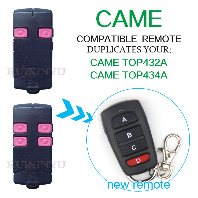 CAME remote control CAME TOP432A CAME TOP434A smart universal remote control duplicator 433.92mhz garage door remote control