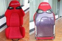 One Lot 2 Pcs Adjustable Series Racing Seats SPQ Purple FRP Fiberglass Frame Black Blue Red