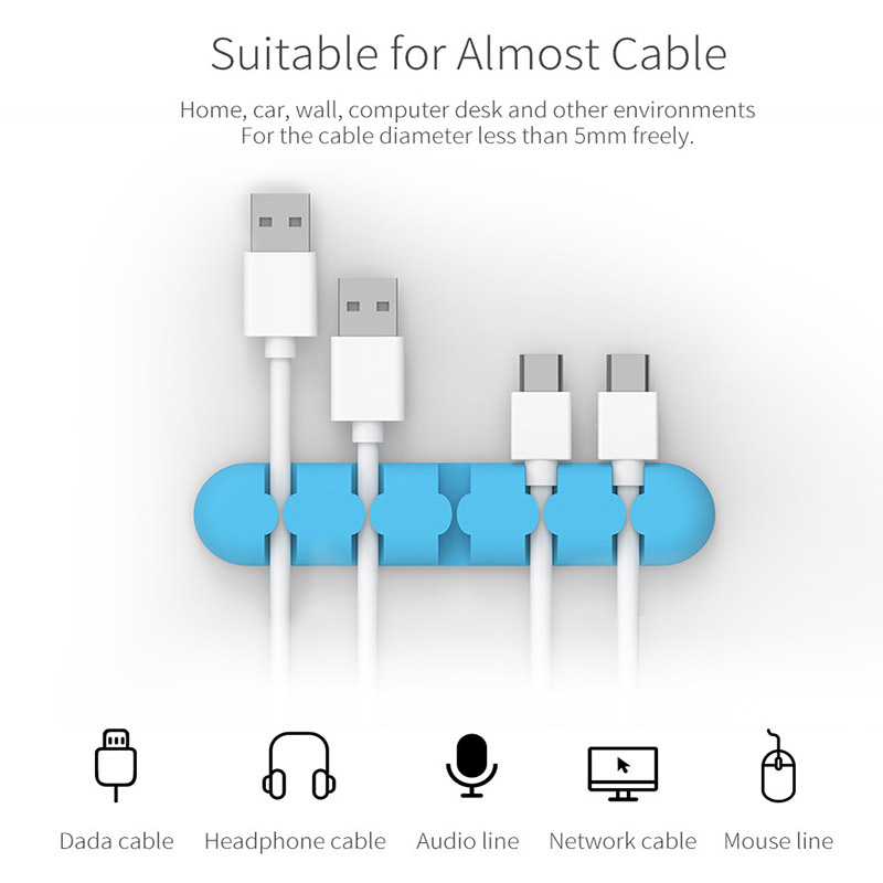 iDsonix Silicone Wire Organizer Cable Mobile Phone Cable Mouse Cord ...