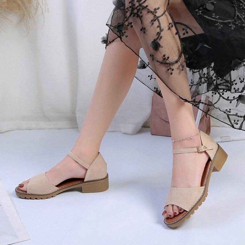 2019 Summer Women Shoes Low Heels Ladies Sandals Peep-toe Fashion Women Sandals Woman Summer Shoes Non-slip YX7682019 Summer Women Shoes Low Heels Ladies Sandals Peep-toe Fashion Women Sandals Woman Summer Shoes Non-slip YX768