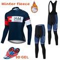2019 heißer IAM Winter Thermische Fleece Radfahren Jersey Langarm Trikots Radfahren Bib Hosen Set Bike Fahrrad Radfahren Kleidung