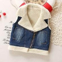 [ Sashine дети ] 1-4Yr дети мужская зима теплая сгущает мода для мальчиков девочек для новорожденных детей джинсы жилеты