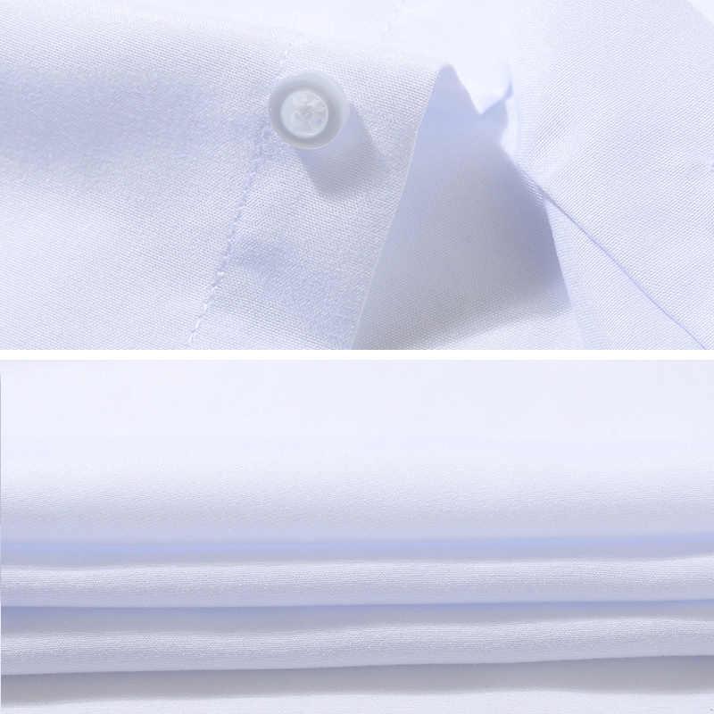 2018 夏ブランド白の学生シャツ半袖スリムフィットコットンカジュアルシャツ男性カレッジビジネスメンズドレスシャツ Camisas