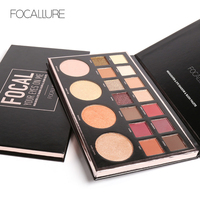 Focallure Brand 18color Eyeshadow Palette Glitter Shimmer Eyeshadow Eyes Makeup Natural Easy To Wear Matte Shadow