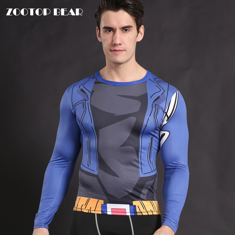 Trunks T Shirt Anime Cosplay Shirts Dragon Ball Z Costume Compression Mens T-shirts Clothing Male Tops Tees 2017 ZOOTOP BEAR