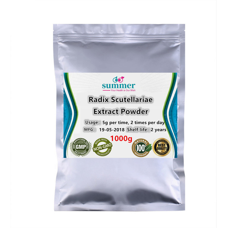1000g Wild Radix Scutellaria extract powder Huang qin extract powder for anti inflammation Effect on immune