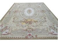 100% wool hand stitched needlepoint round carpets needleopint rugs palace aubusson pattern Rose gc nee 105