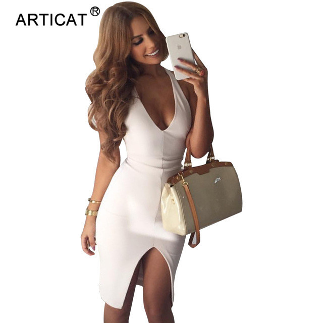 SIBYBO Women Sexy Halter Top Backless Soft Dress Off Shoulder Bodycon Vestidos V Neck Bandage Christmas Club Evening Party Dress