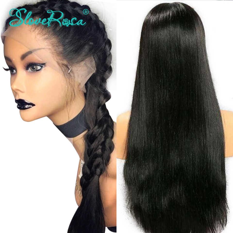 Прямые перуанские парики из натуральных волос на кружеве для женщин парик из натуральных волос с детскими волосами натуральные волосы