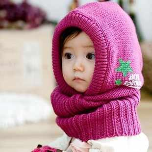 Korean Version of The New Children's Winter Hat Cap Cute Baby Shawl Cap Ear Cute Child Hat Scarf