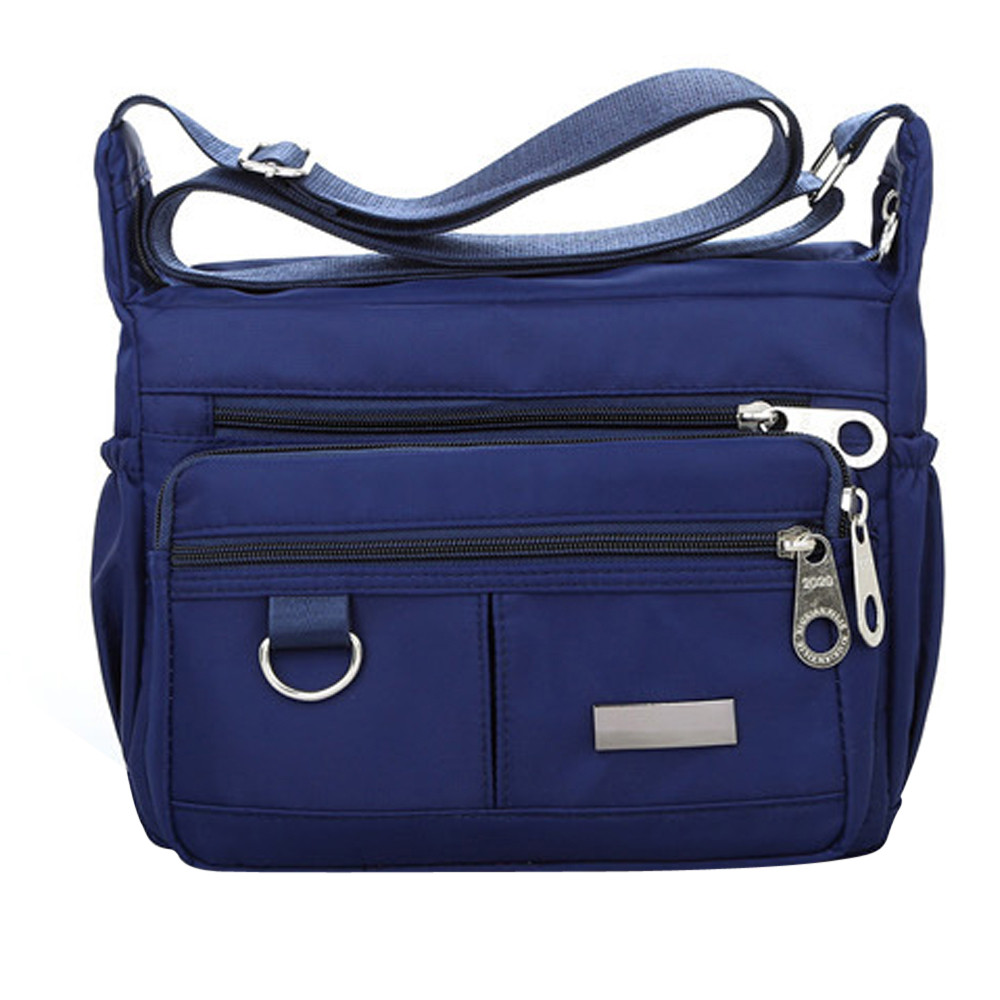 Women Fashion Solid Color Zipper Waterproof Nylon Shoulder Bag  Handbags,Shoulder Bag purple 25cm*19cm*9cm 29