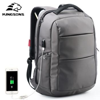 Kingsons KS3142W 15.6 inch Function Laptop Backpack External Charging USB Anti-theft Women Travel Bag Man Business Dayback laptop bag