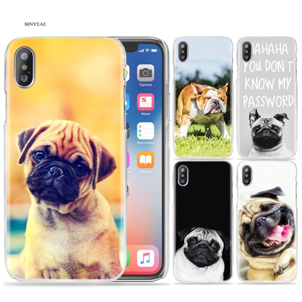 Half-wrapped Case Nice Tempered Glass Case Sushi Pug Novelty Fundas Cover For Iphone 6 6s 7 8 X Xs Xr Max 5 5s Se Shell Cellphones & Telecommunications