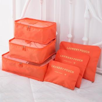 6PCs/Set Travel Storage Cubes Tidy Pouch Luggage Waterproof Organizer Bag 1