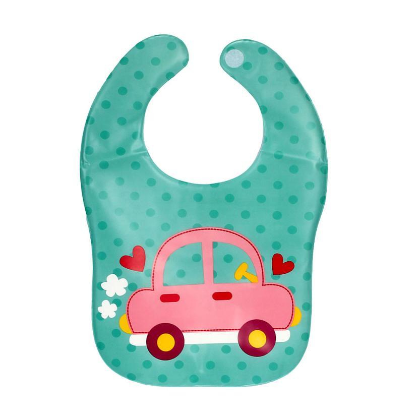 5-MB New Kids Child Translucent Plastic Soft Baby Waterproof Bibs EVA