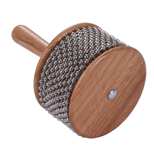 Деревянный перкуссионный музыкальный инструмент, металлическая цепочка из бисера и цилиндр, поп-Шейкер для классной группы среднего размера