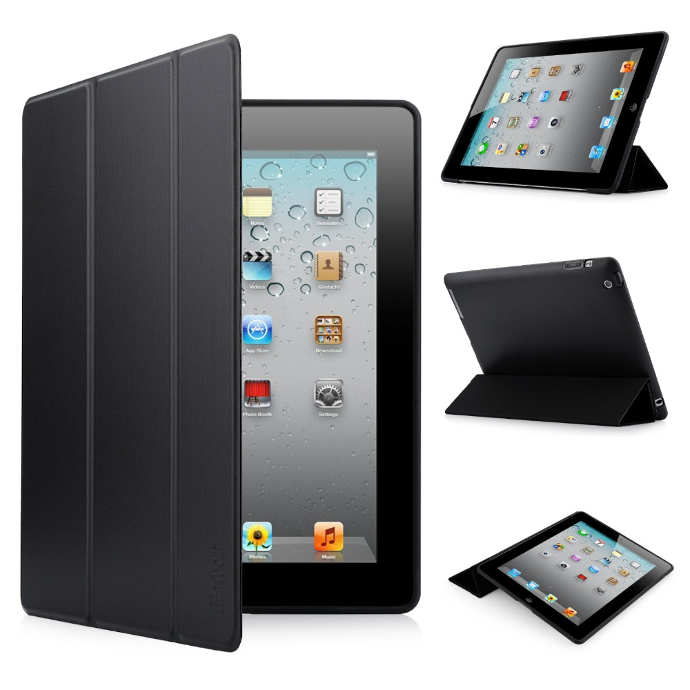 Stand Cover Case for iPad 2/ 3/ 4, iHarbort Soft Silicone TPU Case Smart Cover with Multi-Angles Stand Holder Auto Wake / Sleep