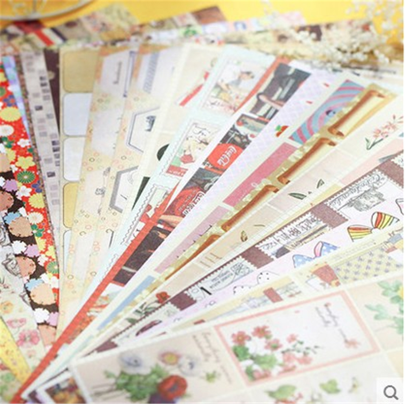 24PCS Retro nostalgia in Europe and the pictorial diary stickers planner Stationery label sticker scrapbooking Christmas