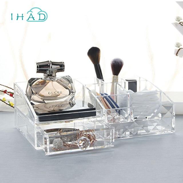 Aliexpresscom Buy Diamond pattern Acrylic Cosmetic box makeup