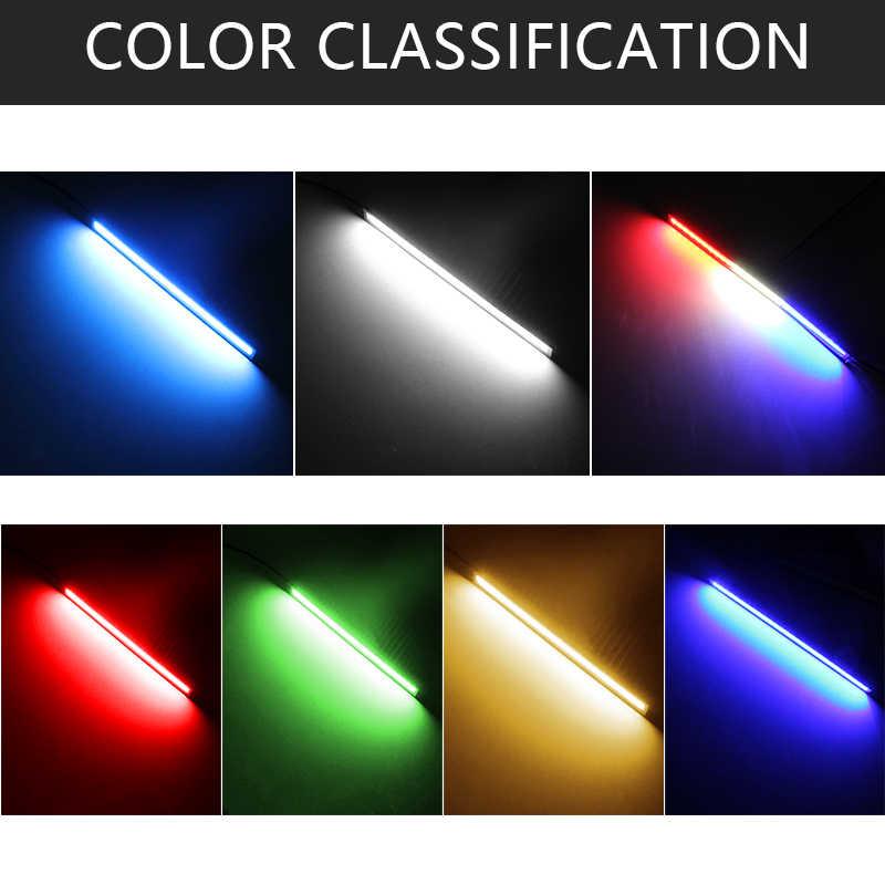 1 Uds. Luces De Circulación Diurna LED Ultra brillantes de 12W cc 12V 17cm 100% a prueba de agua coche DRL COB conducción antiniebla