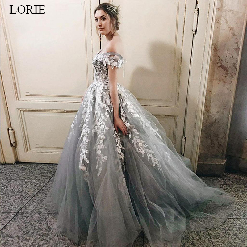 Lorie Lace Wedding Dresses 2019 Appliqued With Lace A Line: LORIE 2019 Beautiful Princess Lace Up Wedding Dress Long