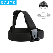 купить SHOOT Elastic Harness Head Strap for GoPro Hero 7 5 6 3 4 Session Sjcam Sj4000 Yi 4K Eken h9 Camera Mount for Go Pro 7 Accessory дешево