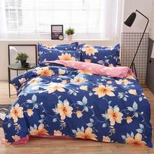 Home Textile Autumn Dark-color Flower Series Bed Linens 4pcs Bedding Sets Bed Set Duvet Cover Bed Sheet Mans Cover Set(China)