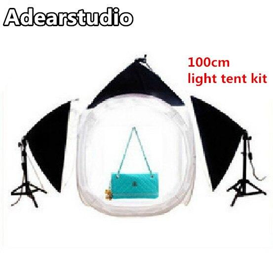 light tent lightbox Photography light studio set cotans 100cm round 3 softbox flash softbox tent Adearstudio