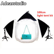 light tent lightbox Photography light studio set cotans 100cm round 3 softbox flash softbox tent Adearstudio CD50