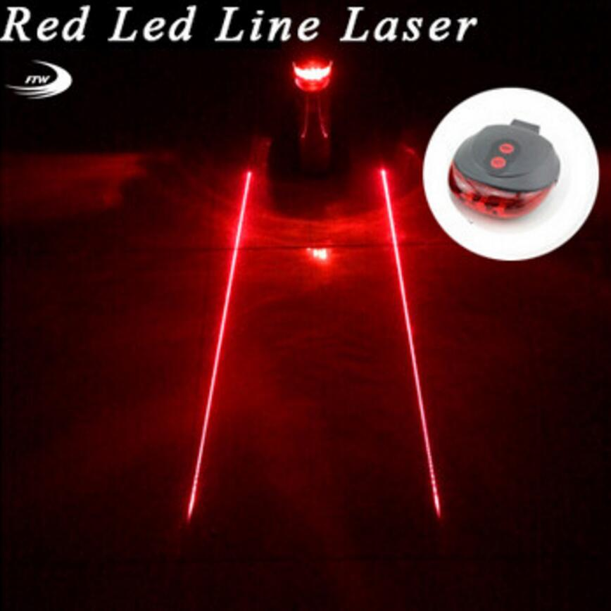 Tail light 5LED 2Laser Cycling Safety warning Bicycle Rear Lamp Bike Laser Tail bike Light Bicicleta Caution TL0218