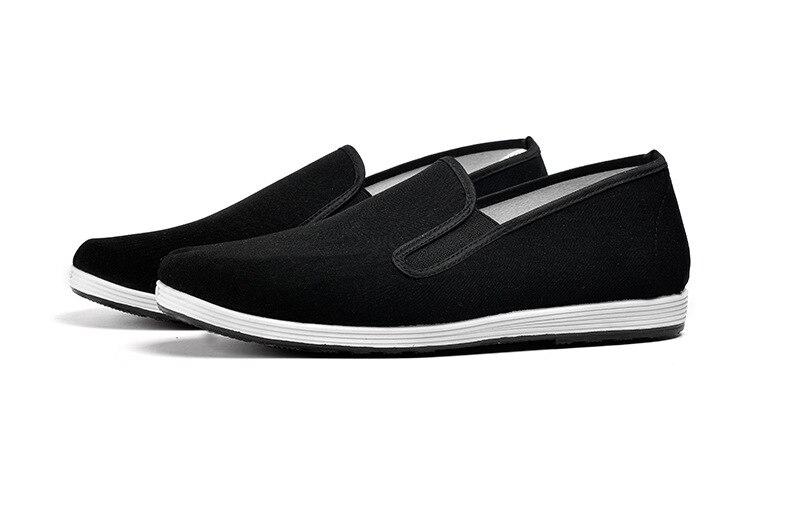 Tela 2019 Hombres De Primavera Bajos Negro Zapatos Ocasionales Plataforma Nueva Clásico Beijing Los 4qaPf